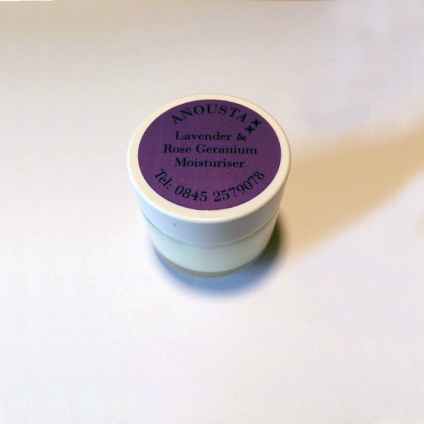 Lavender Rose Geranium moisturiser travel pot